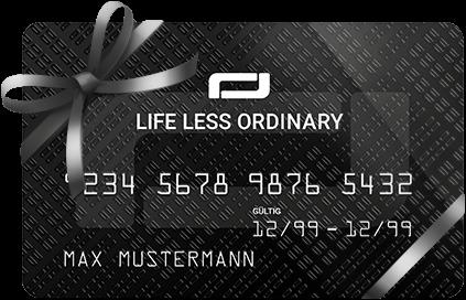Life Less Ordinary Card with ribbon